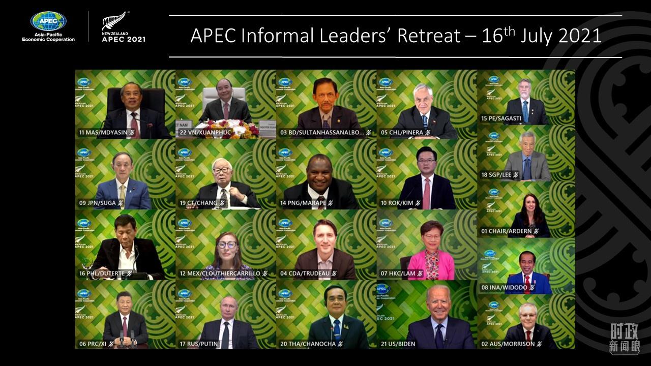 △2021年7月16日,与会各方以视频方式出席会议。(图/亚太经合组织官网)