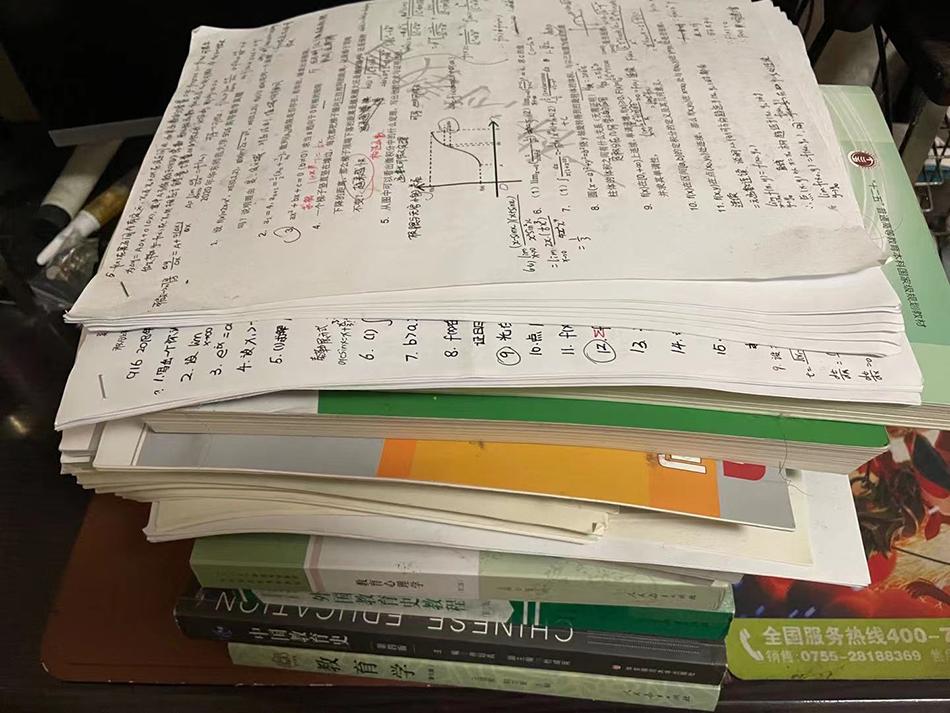 若希准备考研,基本上是从零开始学。 受访者 供图