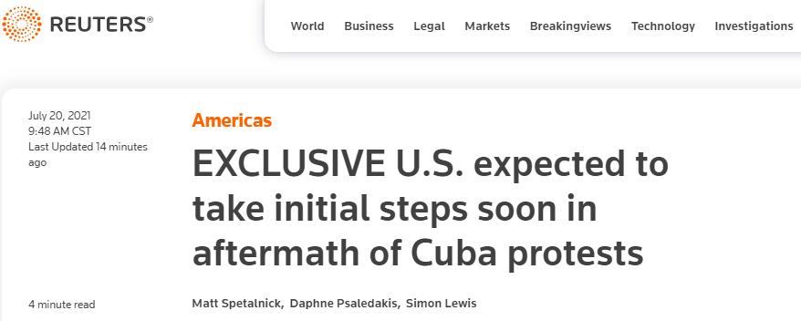 要动手了?外媒:美国务院官员透露,拜登政府将对古巴采取初步行动