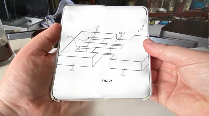 苹果获得一项滑动式柔性屏电子设备设计专利