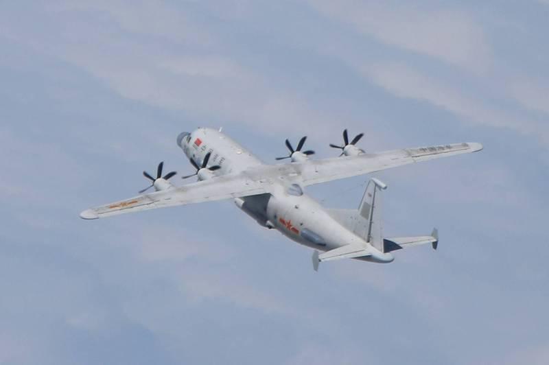 解放军军机(示意图)。图自台防务部门