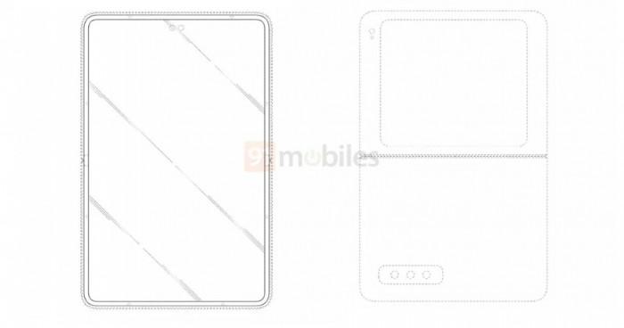 三星新专利显示会有超大副屏和双打孔前摄