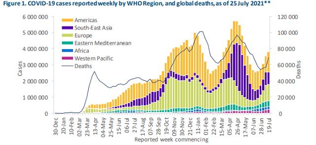 WHO称上周美国新增病例超50万,未来两周全球累计恐破2亿