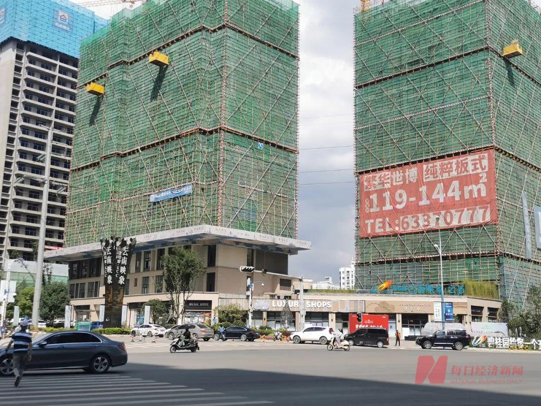 昆明市中区在建楼盘 图片来源:每经记者 陈利 摄