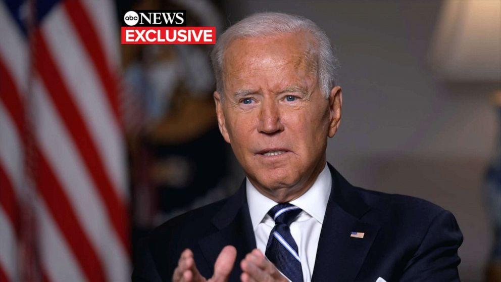 美国总统拜登周三接受美国广播公司(ABC)采访