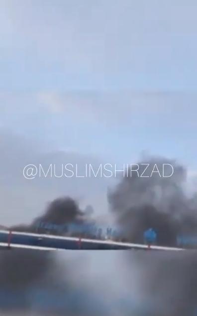 阿富汗民众拍到的火灾现场视频截图