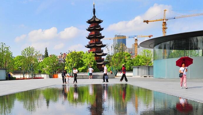 """上海市中心唯一的千年佛塔:""""减负""""成功,即将开放"""