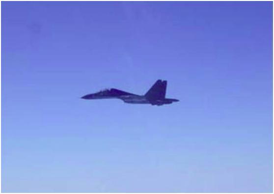 """""""苏-30""""战斗机同型机。图自台湾防务部分官网"""