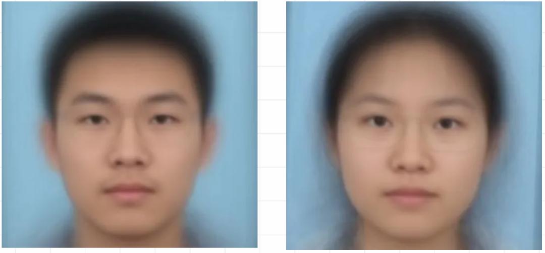 """2020年新生""""平均臉"""""""