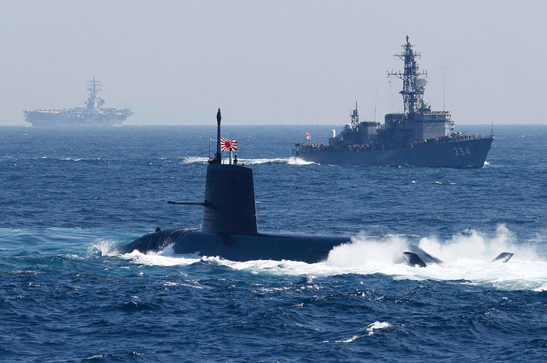 日本自卫队开展反潜演练(资料图)