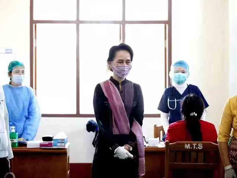 缅甸法院继续审理总统和国务资政所涉案件,昂山素季未能出庭