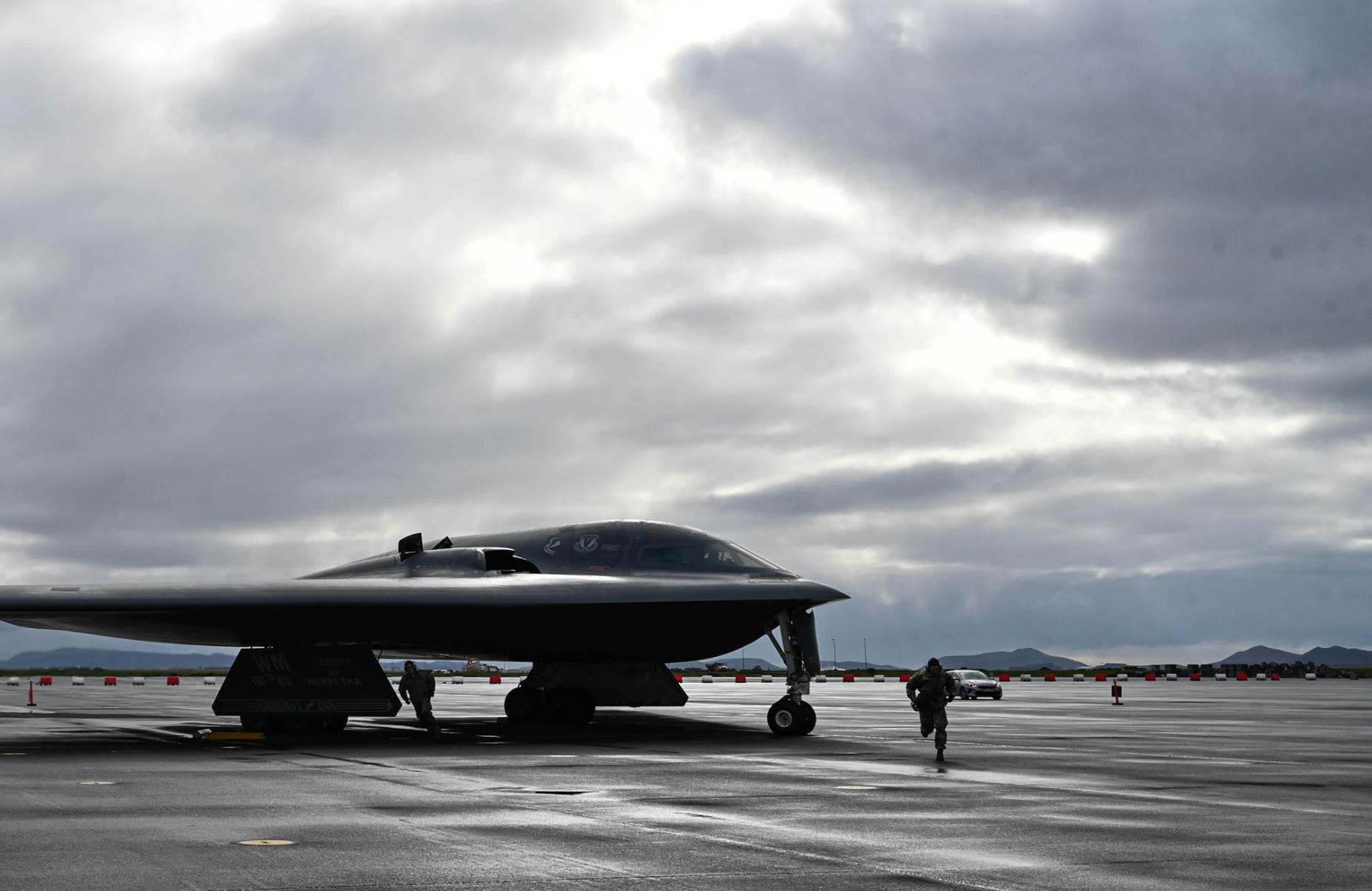 怀特曼空军基地的B2,不清楚是不是同一架 图源:美国空军全球打击司令部(AFGSC)