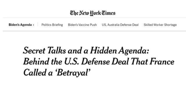 耻辱!美媒爆料:核潜艇的事情,美澳故意隐瞒法国超过半年