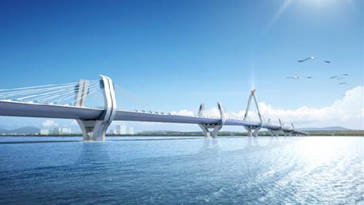 坦桑尼亚新塞兰德大桥顺利合龙