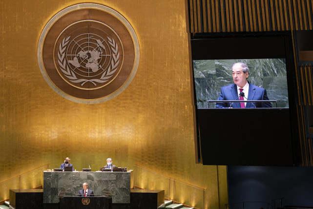 联合国大会上,叙外长要求美国土耳其立即撤军
