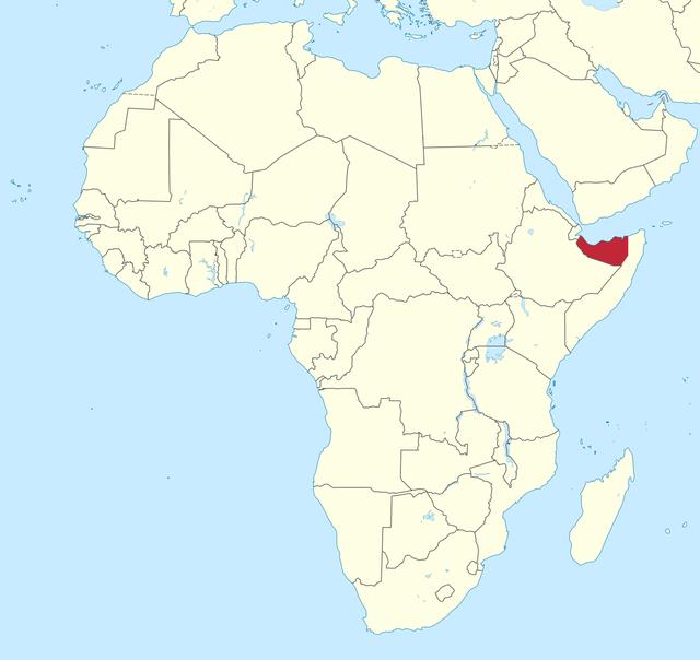 索马里兰地理位置图 图自社交媒体