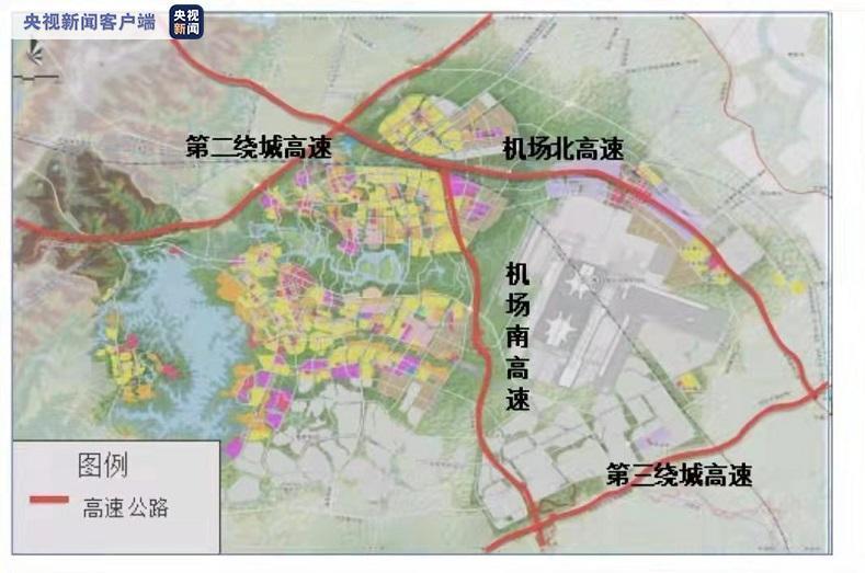 四川成都天府国际机场高速公路南线已建成完工 即将通车
