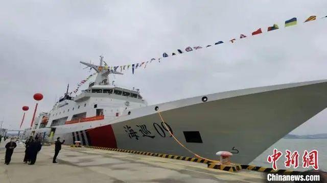 我国目前吨位最大、装备先进、综合能力强万吨执法船,入列!