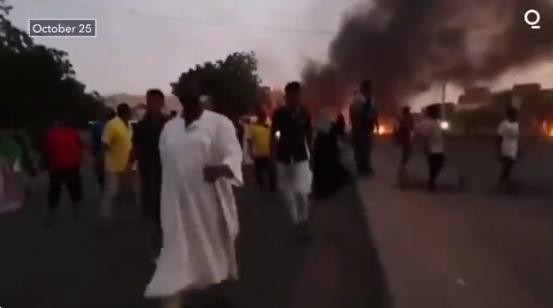 数千名抗议者在首都街头抗议,视频截图