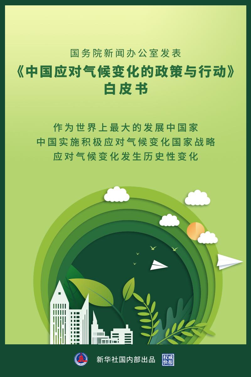 《中国应对气候变化的政策与行动》白皮书发表