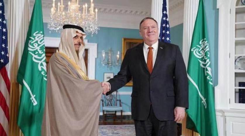 △沙特社交大臣与蓬佩奥会面原料图 来自沙特国家通讯社