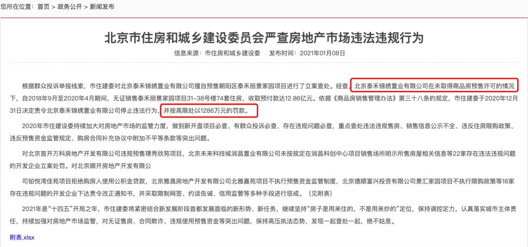 单价不到7万的泰禾北京院子系无证销售 业主13亿预售款怎么办?