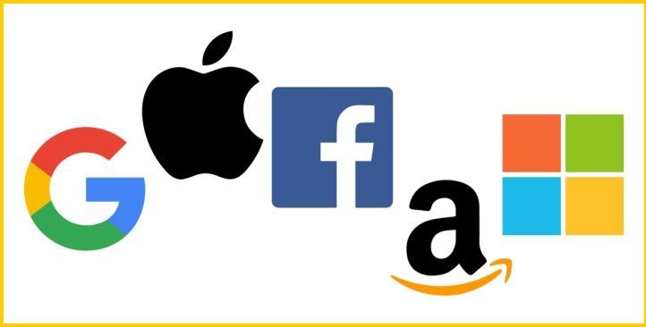 △GAFAM是谷歌、亚马逊、脸书、苹果和微软五个美国科技公司的首字母缩写