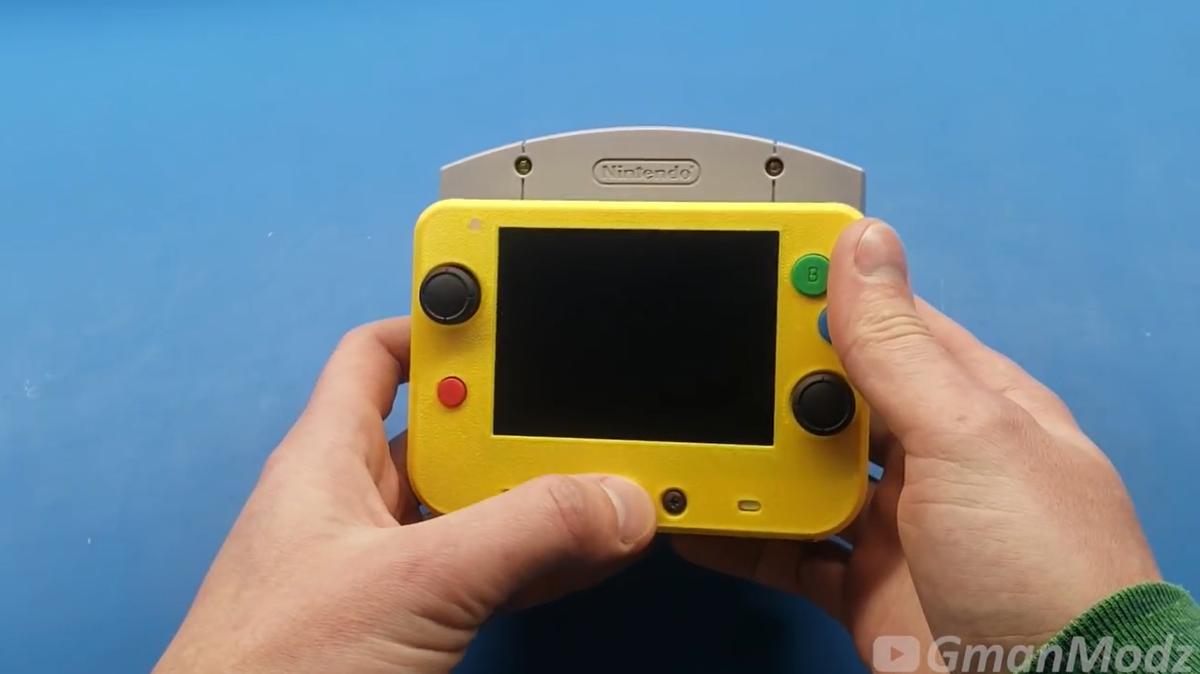 玩家打造世界最小N64掌机 经典主机掌中回味
