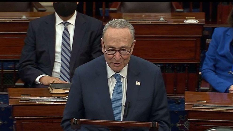 美民主党正式控制参议院 舒默成为参院多数党领袖
