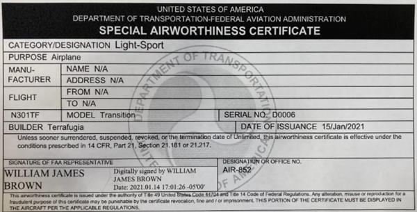 吉利太力TF-1获全球首张飞行汽车FAA适航证