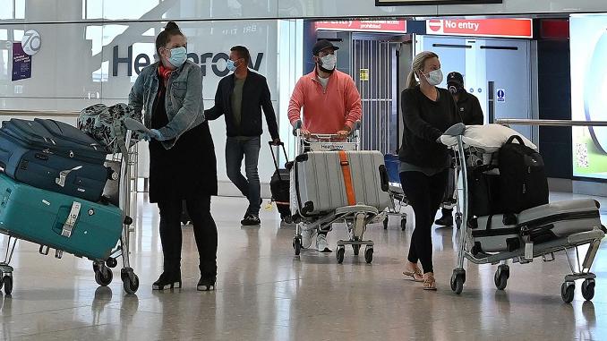△为防止在其他国家发现的变异病毒输入,英国已<strong>盈彩体育app</strong>对南美、南非及葡萄牙等国旅客进行不同程度的入境限制。