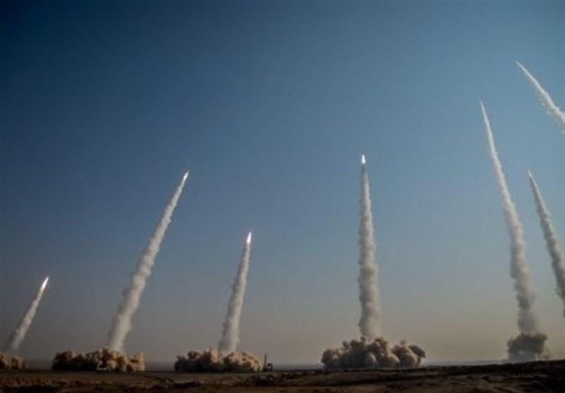 △伊朗军演试射导弹(图片来源:伊朗媒体)
