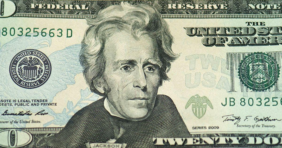 印有杰克逊头像的20元美钞