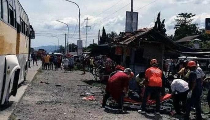△爆炸现场(图片来源:菲律宾星报)
