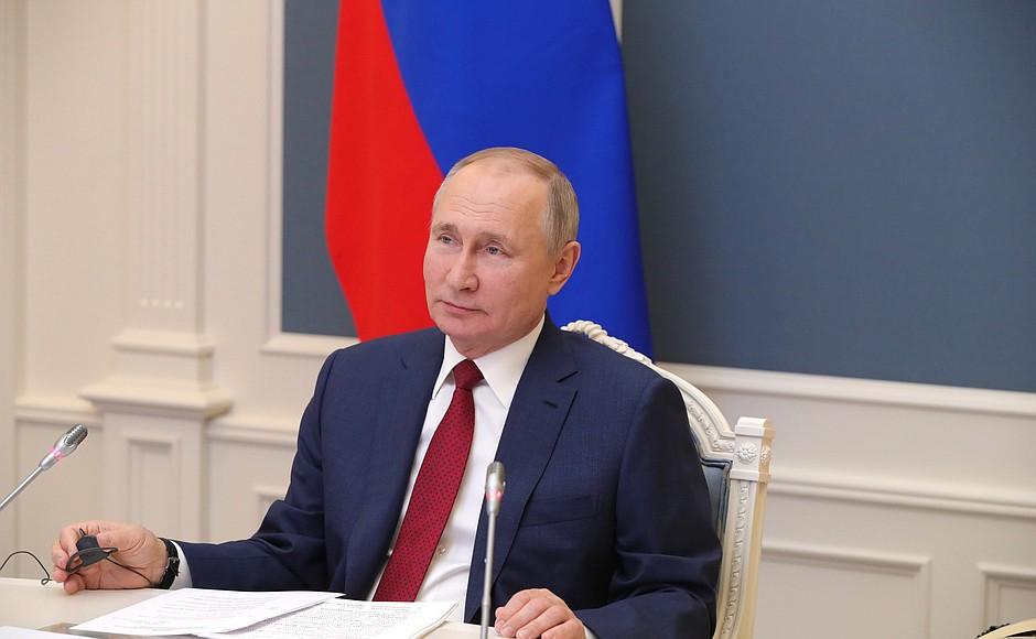 普京在达沃斯论坛发表致辞 呼吁全球共同抗击新冠疫情