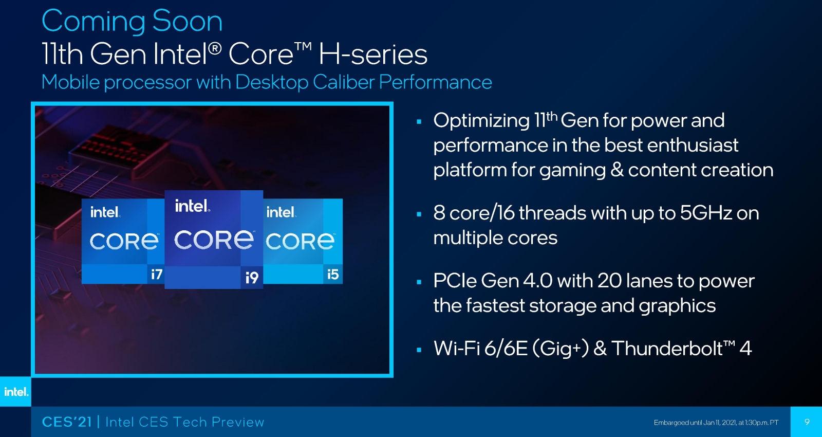 Intel 10nm 8核心游戏本二季度末发布:多核加速5GHz