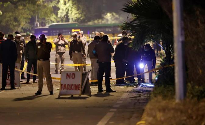 以色列驻印度使馆外发生爆炸 现场留有神秘信件