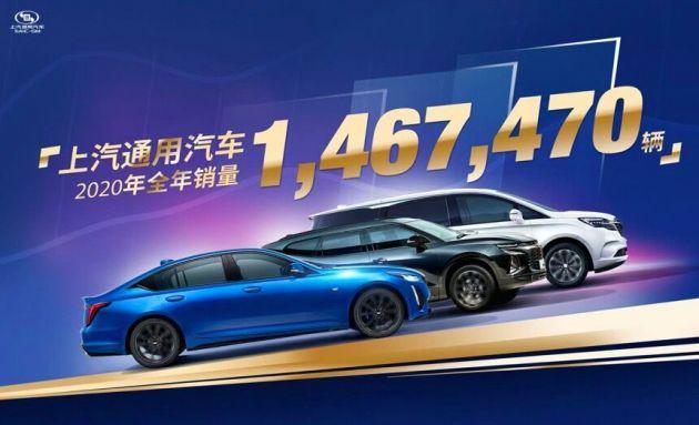上汽通用汽车2020年全年销售超146.7万辆 别克微蓝家族销售1.6万辆