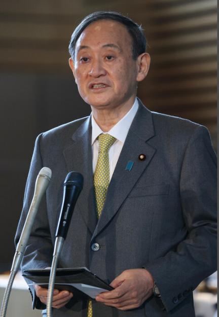 日本首相菅义伟:首都圈一都三县将再次进入紧急状态