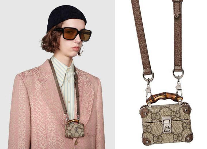 ▲ 价值 1100 美元的 Gucci Beige AirPods 珍惜套。 图片来自:Gucci 官网