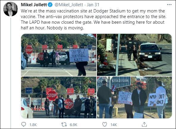抗议现场 图自社交媒体