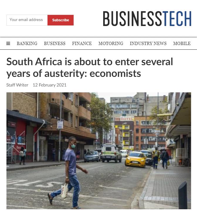 30年来最长的衰退期!南非即将进入数年的经济紧