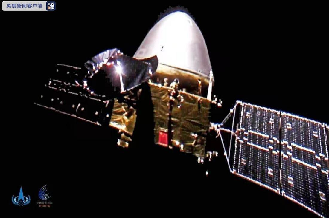 """△2020年10月1日,天问一号传回太空""""自拍""""。"""