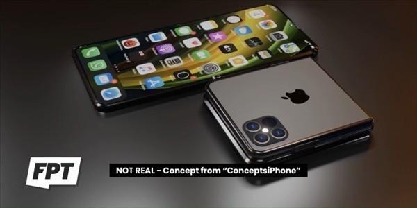 可折叠iPhone渲染图
