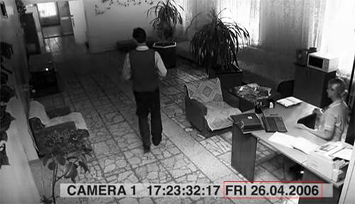 两段监控录像视频截图