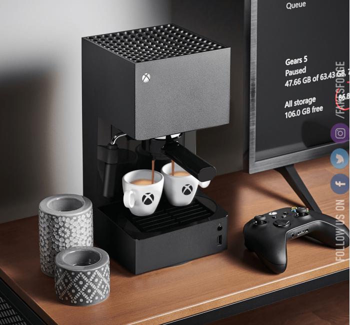 责任编辑:raymon725对文章打分创意P图:Fakes Forge将Xbox Series X改成一台咖啡机1 (50%)1 (50%)