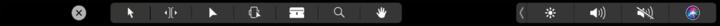 ▲Final Cut Pro 适配 Touch Bar 的操作选项,包含编排、挑选等多个挑选