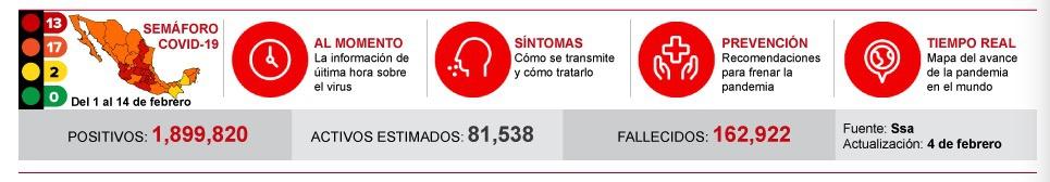 墨西哥全国累计确诊新冠肺炎病例1899820例