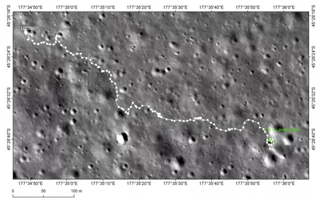 △嫦娥四号巡视路径图