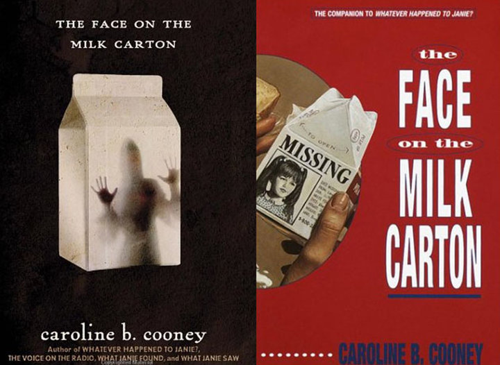 ▲ Caroline B。 Cooney 著作《牛奶盒上的面孔》(The Face on the Milk Carton)。 图片来自:99percentinvisible